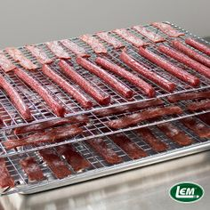 Make muscle meat or ground meat Jerky the way you like it - with LEM! Also, discover facts about Jerky Making. Deer Snack Stick Recipe, Deer Jerky Recipe, Jerky Recipes, Venison Recipes, Venison Snack Stick Recipe In Oven, Summer Sausage Recipes, Homemade Beef Jerky, Making Jerky, Deer Recipes