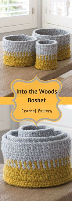 Into the Woods Basket Crochet Pattern - Patterns- Easy - For Beginners- Unique - Home Décor - DIY - Storage- For the House - For Gifts - For Women - Pattern Available for Download After Purchase #ad