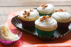 Butterscotch Cupcakes With Coconut-Bacon