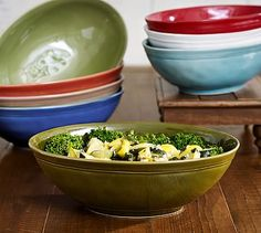 Cambria Oval Serve Bowl from Pottery Barn. Would love it in white!
