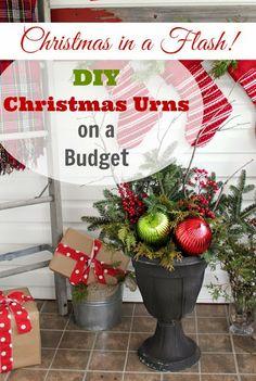 The Creek Line House: DIY Christmas Urns on a Budget