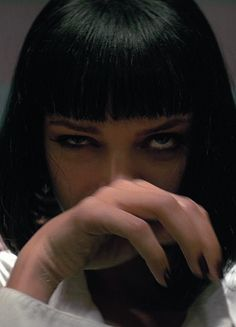 """filmonx: """" Source: The Official Trailer for """"Pulp Fiction"""". This photo, entitled """"Uma Thurman as Mia Wallace in Pulp Fiction has been posted on Saturday, July AM. Pulp Fiction, Fiction Film, Mia Wallace, Uma Thurman, Innocence Lost, Modelos Fashion, Friedrich Nietzsche, Film Serie, Quentin Tarantino"""