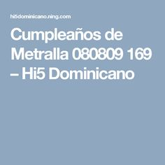 Cumpleaños de Metralla 080809 169 – Hi5 Dominicano