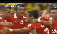 Y en menos de dos minutos la selección chilena anota su segundo gol.