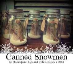 Canned Snowmen by Homespun Hugs and Calico Kisses Primitives ... http://homespunhugsandcalicokissespatterns.blogspot.com/
