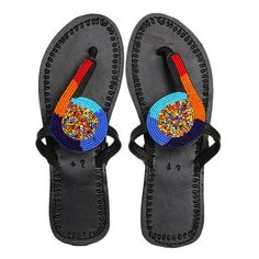 African Sandals – with multicolored beads