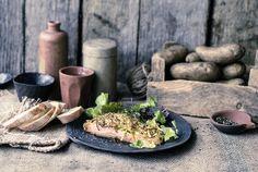 Lachsfilet mit Kartoffel-Zucchini-Kruste