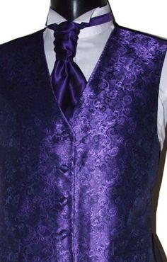 Mens XXL purple wedding waistcoat WW1872/6