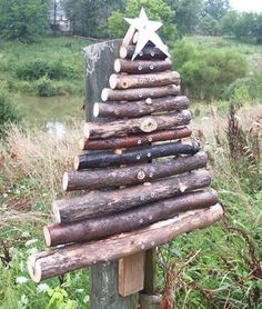 Love this...gather logs from the woods; put at the end of the driveway or maybe the backdoor
