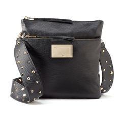 Juicy Couture Stud Flat Strap Crossbody Bag