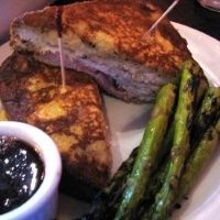 I've never had a Monte Cristo sandwich, but this was good. It's a little plain, but it tastes like a savory, stuffed French toast. Super easy meal for a weeknight, and easy clean up. (Monte Cristo Sandwiches Recipe - 7pp)