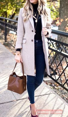 27 Cute Fall Outfits You need For Your Fall Wardrobe Autumn Fashion Women Fall Outfits, Fall Outfits For Work, Casual Work Outfits, Cute Fall Outfits, Business Casual Outfits, Mode Outfits, Fall Winter Outfits, Comfortable Fall Outfits, Stylish Winter Outfits