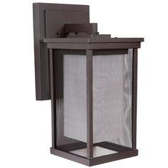 Mesh Shade Outdoor Wall Lantern- Large white