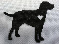 cross stitch labrador | We Love Sookie cross stitch