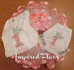 Princess First Birthday Tutu Set Includes Tutu by InspiredFlair, $95.00