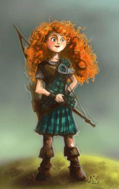 Merida in Kilt by monotogne.deviantart.com on @deviantART - I really think this suits her :)