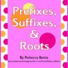Reproducible worksheets, activity ideas, and teaching posters/anchor charts for introducing the concepts of affixes and root words.  Priced product.