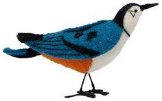 White-Breasted Nuthatch - Felt Bird, C. Harper