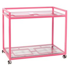 a pink bar cart! perfect for poolside :)