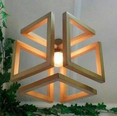 Wood Pendant Light / Wood Lamp / Celing light / Modern Chandelier / Wood Light Fixture / Hanging Lamp / Wood Chandelier - All For Decoration