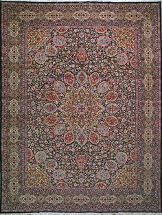 "Kerman Persian Rug, Buy Handmade Kerman Persian Rug 12' 2"" x 15' 9"", Authentic Persian Rug"
