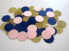 225 Navy Blue Blush Pink Confetti Navy Blush Shower Navy Blush Wedding Navy Blush Gold Bridal Shower Decor Birthday Confetti Blush Dots
