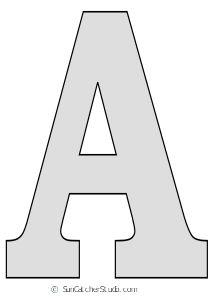 Tall Block Serif Printable Letter Stencils (Numbers and Alphabet) Free Letter Stencils, Alphabet Stencils, Free Stencils, Stencil Patterns Letters, Number Stencils, Letter Patterns, Free Alphabet Printables, Alphabet Letter Templates, Free Printable Alphabet Letters