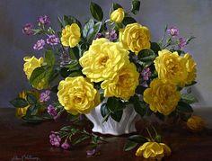 Albert Williams Roses in a Vase 20th century