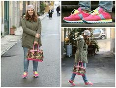 Sneakers Saucony Originals Jazz : le scarpe del momento #angieclausblog #newpost #newoutfit #fashion #fashionblogger #sneakers #saucony #sauconyoriginalsjazz #parka #massimorebecchi #bag #mimetico #fluo #pink #outfit #lookbook http://angieclausblog.com/2015/01/15/saucony-originals-le-sneakers-del-momento/