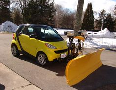 Smart Car Plow this is Great I work for one of the largest and best snow plow mfg company. and this is a first for me.