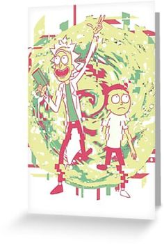 'Rick And Morty — Into the Void' Greeting Card by Obtineo Rick And Morty, Kraft Envelopes, Card Sizes, Finding Yourself, Greeting Cards, Artists, Unique, Gifts, Presents