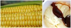 Caramel Corn - fresh sweet-corn ice cream layered with salty caramel sauce