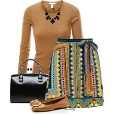 No. 521 - Tribal skirt by hbhamburg on Polyvore featuring J.TOMSON, Warehouse, Tory Burch and Kate Spade
