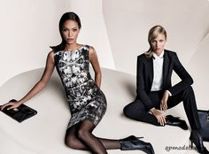 Anja Rubik and Joan Smalls for Hugo Boss Fall/Winter 2013 Campaign - http://qpmodels.com/european-models/anja-rubik/1862-anja-rubik-and-joan-smalls-for-hugo-boss-fall-winter-2013-campaign.html