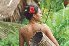 Mentawai back tattoo