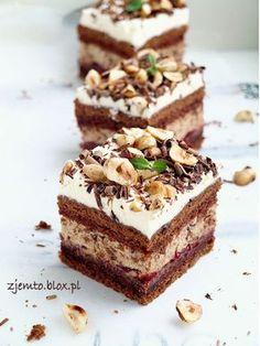 Polish Desserts, Polish Recipes, Summer Dessert Recipes, Delicious Desserts, Cake Recept, No Bake Cake, Yummy Cakes, Sweet Recipes, Baking Recipes