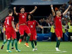Portugal nas meias finais do Euro 2016.