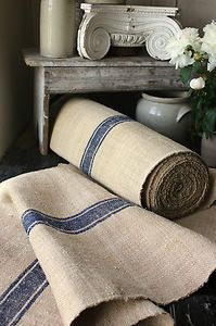 Antique French ticking flour sack