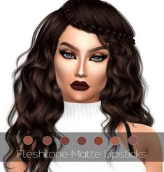 MAC cosimetics: Fleshtone Matte Lipsticks V. 2 • Sims 4 Downloads