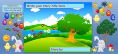 Mini-Beast Adventure story maker power point available at this site. Click on name under one of the pictures for a download. You can also add your own .png graphics to the story board.