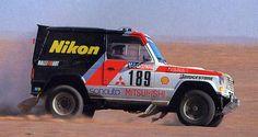 Patrick Zaniroli & Jean Da Silva, MITSUBISHI PAJERO, Dakar Rally 1985.