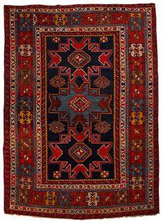 Leshgi Kazak Teppich Kaukasus 178 x 119 cm
