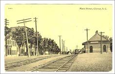 Railroad Train Station, CLOVER , South Carolina, 00-10s