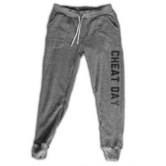 Cheat Day Women's Joggers Women's Activewear Fitness Apparel... ($33) ❤ liked on Polyvore featuring activewear, activewear pants, grey, leggings, women's clothing, sweat pants, long sweat pants, grey jogger sweatpants, jogger sweatpants and gray sweat pants