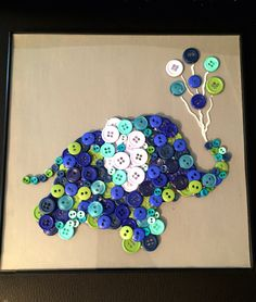 - Canvas with a silhouette of an elephant holding balloons in trunk. - Custom orders can be any animal and color scheme. - All custom orders come with a crystal clear glaze, high gloss polyurethane co