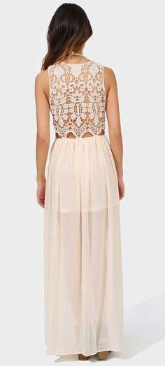 Crotchet Back Maxi Dress