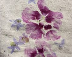 Floral transfer to canvas or calico - use a hammer and give it a bash!