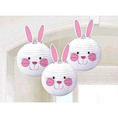 Amazon.com: Amscan Easter Bunny Paper Chinese Lantern Decorations 3/pkg: Kitchen & Dining