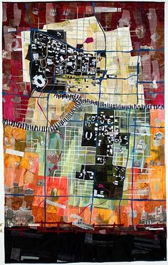 Tale of Two Campuses by Valerie S. Goodwin - 48 x 77 inches