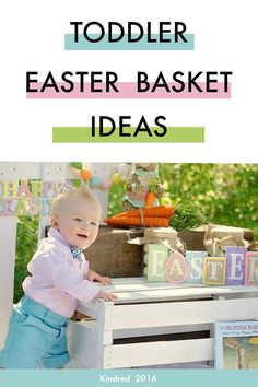 Easter basket ideas for toddlers.  Non-food, inexpensive Easter basket ideas for toddlers that promote physical development, emotional intelligence, and early childhood education.